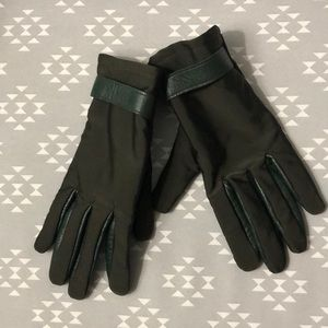 Echo Green Leather Gloves